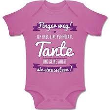 Shirtracer Sprüche Baby Ich Habe Eine Verrückte Tante Lila 6 12