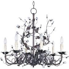 elegante 6 light oil rubbed bronze chandelier