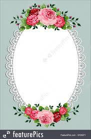 vintage frame design oval. Valentine Frames: Vintage Roses Oval Frame With Space For Your Text Or Design, Invitation Design O
