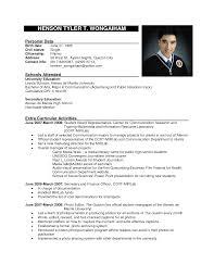Resume Formal Resume Sample