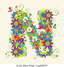 design letter letter n floral design see also letters in my gallery vectors