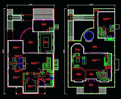 ideas autocad house plans for floor plan sample house 42 autocad 2d house plans with dimensions
