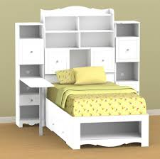 Nexera Pixel Twin Tall Bookcase Storage Bed with Desk