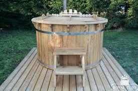 wooden oak hot tub