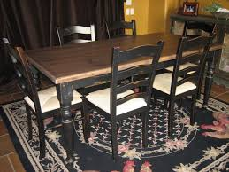 Distressed Black Kitchen Table Furniture Delectable Dining Table Sets Chairs With Black Modern