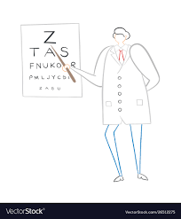 Eye Chart Letters Ophthalmologist Showing Letters On Eye Chart