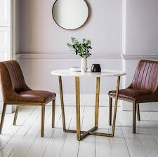 saloon marble round dining table 90cm