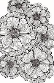 Blackline Flowers Nel 2019 Arte A Scuola E Lavoretti Bimbi