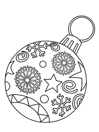 Coloring Pages Christmas Ornaments Coloring Pages Ornaments Free