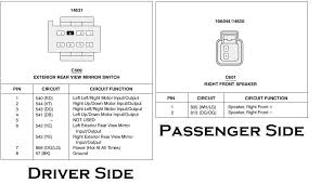 ford power mirror wiring diagram ford image wiring wiring diagram for 01 08 power mirrors needed ford ranger forum on ford power mirror wiring