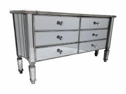 venetian glass marbella mirrored sideboard chest