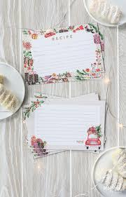 Printable Christmas Recipe Cards Christmas Recipe Card Printable Holiday Recipe Card Download