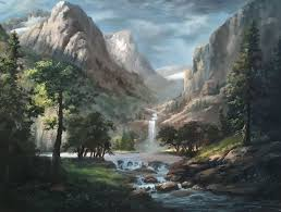 sunlit mountain pass oil painting by kevin hill watch short oil painting lessons on