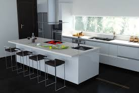 Interior Kitchen Black And White Kitchen Monochrome Stylish Modern Kitchen Concept