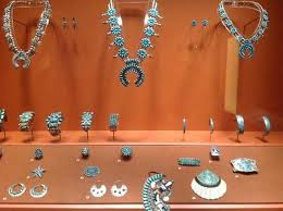 museum of indian arts culture several rooms display turquoise jewelry