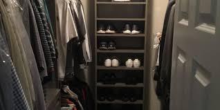 men s walk in custom closet system