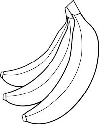 banana clipart black and white. banana clipart fruit clip art black and white w