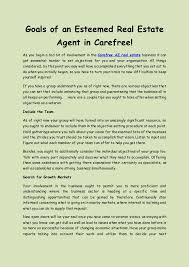 Goals Of An Esteemed Real Estate Agent In Carefree