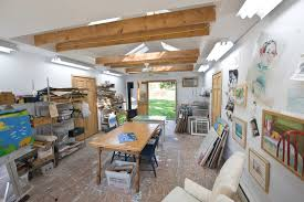 traditional shed by pine street carpenters the kitchen studio artist studio lighting