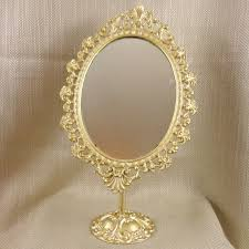 vintage vanity mirror oval french gold ornate on stand swivel dressing table 1 of 10 see more