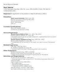 Recently Graduated Resume Student Nurse Resume Examples Nursing Resume Samples For New