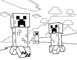 Small Picture Creepers PDF Printable Coloring Page Minecraft Emma 10th Bday