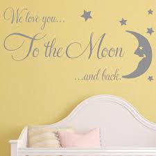 baby wall sticker we love you to the moon and back nursery wall art decals 1  on wall art decal nursery with baby wall sticker we love you to the moon and back nursery wall art