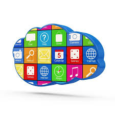 Apps Symbol Cloud Computing Symbol With Apps Stock Photo Colourbox