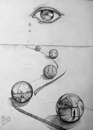 título esferas de dolor maltrato infantil dibujo a lapiz 70x50cm