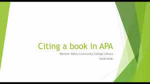 Citing A Book In Apa