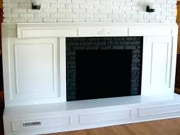 covering fireplace brick with wood