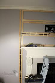 hiding wires for mounted tv without running through walls we don t have a mantle but we are planning to mount the tv and i love the idea of moulding on