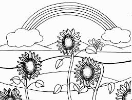 Sunflower Coloring Page For Kids Flower Pages Printables Plants ...