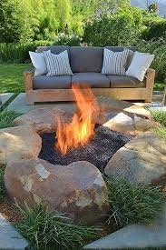 glass rocks for outdoor fire pit beautiful diy inspiring fire pit designs
