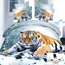 tiger bedding animal design white snow tiger bedding set and quilt cover pertaining to duvet designs