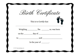 A Blank Birth Certificate