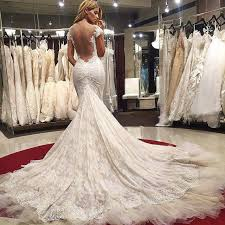 sexy wedding dresses mermaid wedding dress lace backless wedding