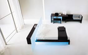 high tech lighting. high-tech bedroom designs - bed and table with led lighting high tech a