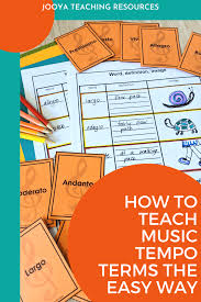 In compositions, a work's tempo is indicated by an italian word at the beginning of a score. How To Teach Music Terms For Tempo The Easy Way Jooya Teaching Resources
