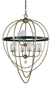 9 light antique brass matte black margaux chandelier