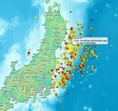 Курсовая работа Экологические проблемы и экологическая политика  Рисунок 1 Карта землетрясений в Японии март 2011года 7