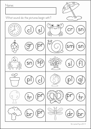 Blending Worksheets For Kindergarten Math Consonant Blends Missing ...