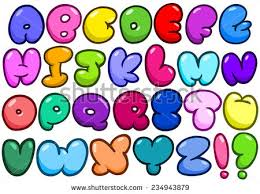 stock vector ic bubble shaped alphabet set