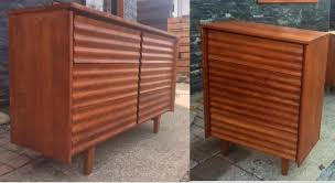 home u003e beds u0026 dressers rare refinished mcm solid wood dresser tallboy by jan kuypers real wood dressers s37
