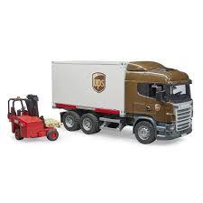 <b>Bruder</b> 03-581 Фургон Scania UPS с погрузчиком и паллетами ...