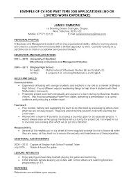 Job Application Objectives Sample Of The Best Resume Resume Template For Job Application Sample