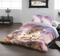 awesome unicorn duvet cover set for uk double us twin bed by david penfound