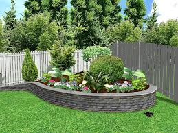 Outdoor, Marvelous Green Square Urban Stone Flower Beds In Front Of House  Ornamental Stone Like