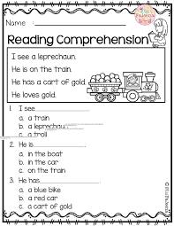March Reading Comprehension   Comprehension worksheets ...