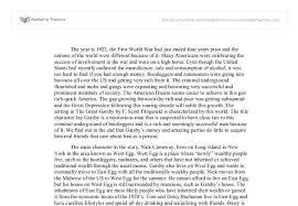 the great gatsby setting anaylsis university linguistics  document image preview